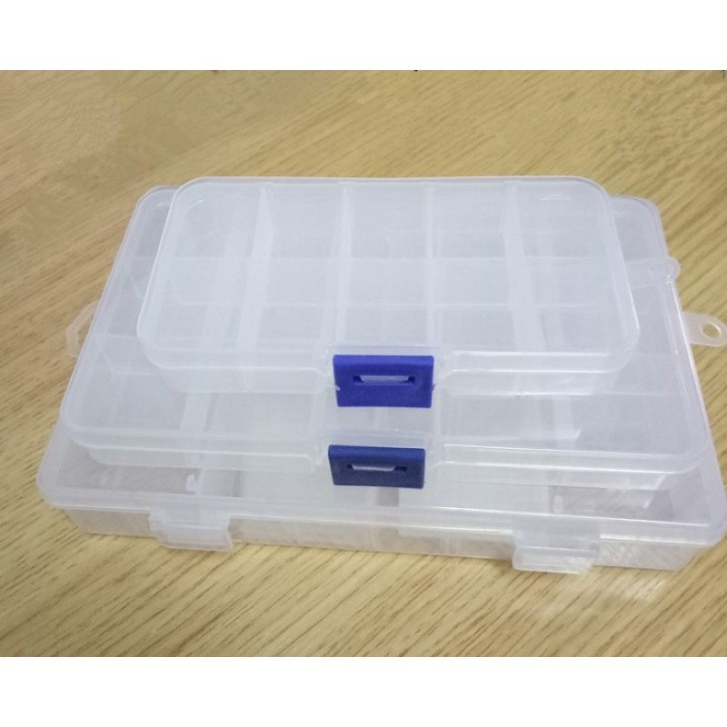 1PC 10/15/24 Detachable Slots Cells Screw Beads Component Storage Box Container Ring Portable Jewelry Tool Box