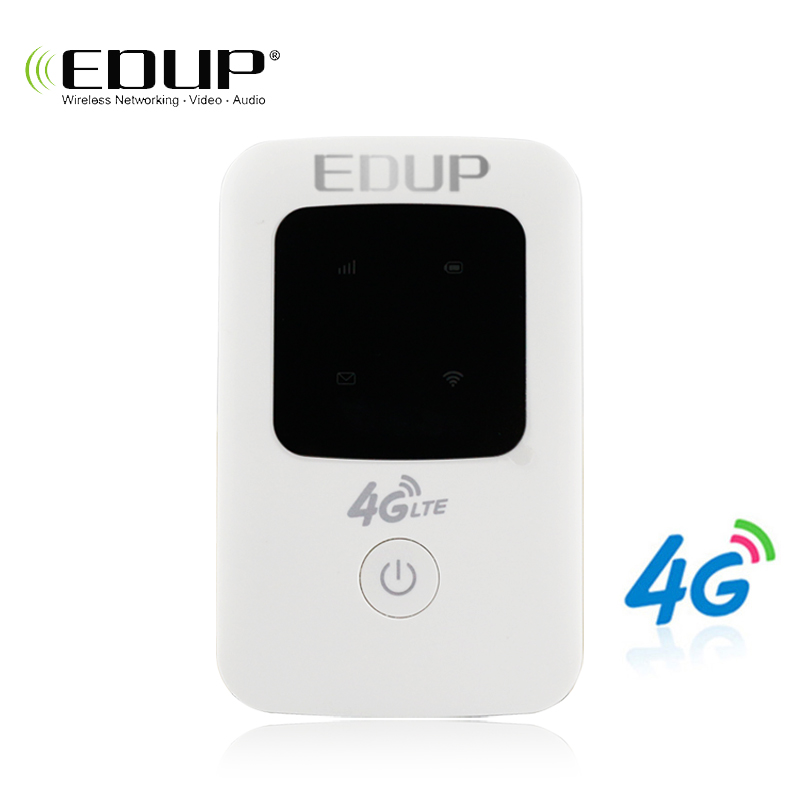 EDUP 4G WiFi Router 3G 4G Lte Wireless Portable Pocket Mobile Hotspot Wireless MiFi Unlock Lte Modem Wireless Sim Card Router 4g lte mobile wifi wireless router hotspot led lights supports 10 users portable router modem for car home mobile travel camping