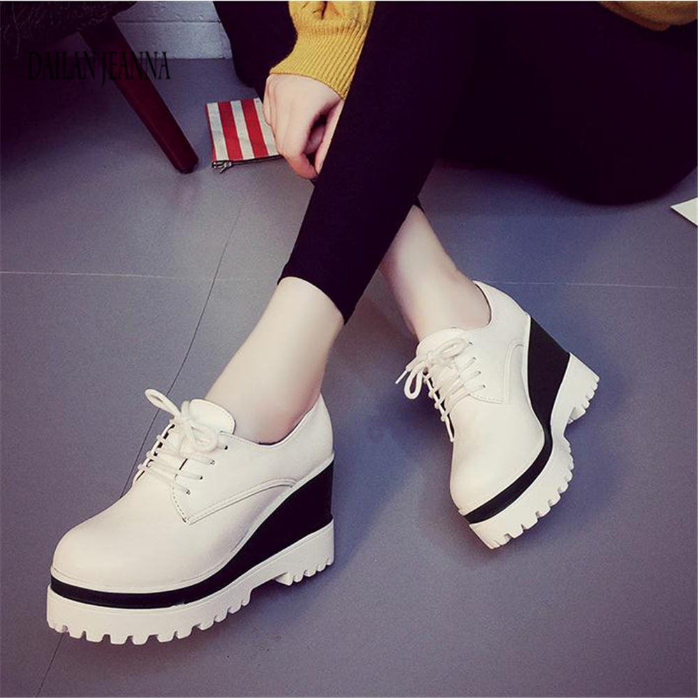 Image 3 - Spring 2018 new single shoe womens muffin shoes womens shoes high inside the thick solesWomens Pumps   -