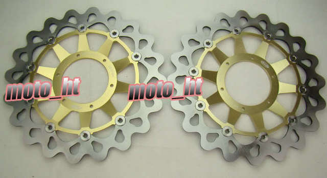 Arashi Front Brake Disc Rotors Set For Honda CBR1000RR 2008 2009 2010 2011 Gold