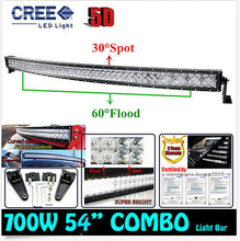 Cree Chips 700W 52″ Spot Flood 5D LED Work Light Bar Curved External Lights Off-road Driving Lamp SUV ATV UTE Auto Car Headlight