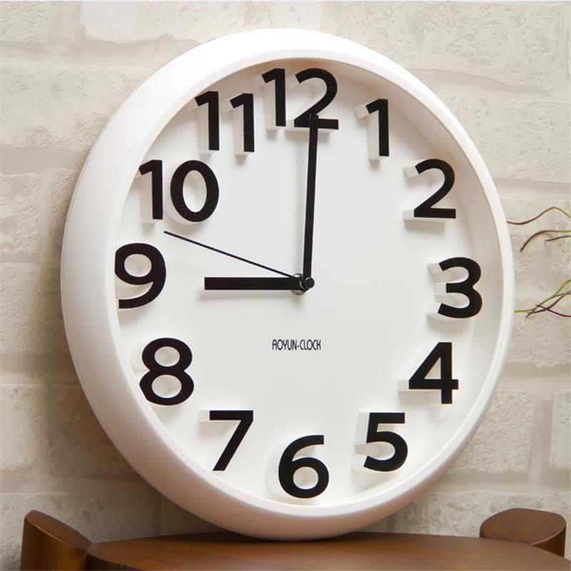 Pendule Murale Digitale Perfect Horloge Pendule Murale Silencieuse Diamtre Cm Blanc With