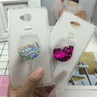 Glitter Quicksand Phone Cases for Huawei Honor 5X / Glory Play 5X / GR5 Case Bling Cute Srtars Cup With Soft Silicon Back Cover