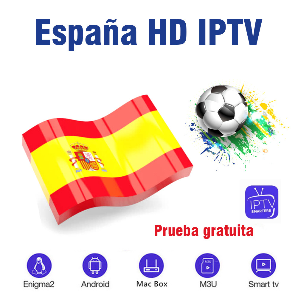 Specially Made For Spain IPTV M3u Subscription Iptv Spanish VOD Premium For Android Box Enigma2 Smart TV PC Linux