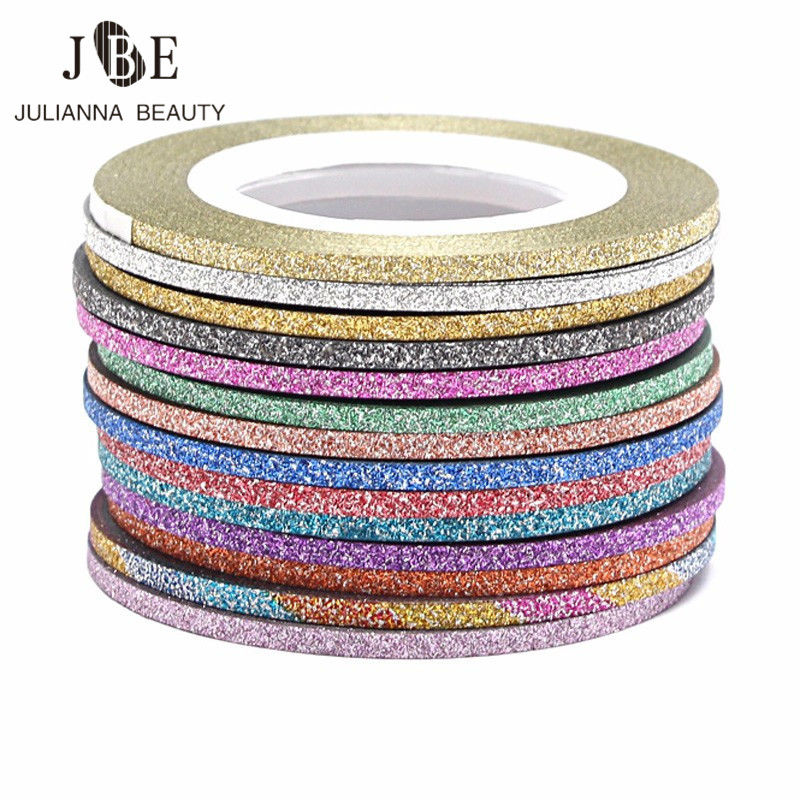 30 Rolls Gold/Silver Glitter Nail Art Striping Tape Line Sticker On Nails Art Decoration Multicolor Shining DIY Nail Tips 1mm/2m гирлянда luazon дождь 2m 6m multicolor 671678