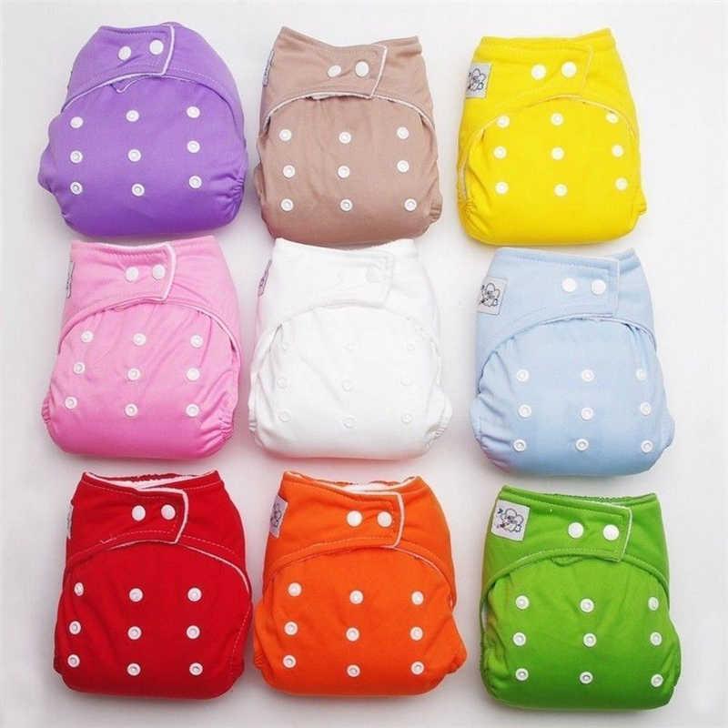 Multi-color 1 piezas ajustable reutilizable bebé pañales de tela suave cubre chico chica lavable ajustable una talla Fraldas 2019