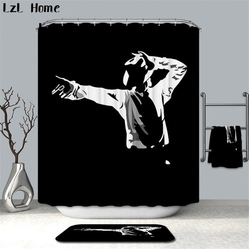 LzL Home Creative Dancer Animal Shower Curtains 3D New Design Figure Factory Custome Bathroom Curtain Polyester Shower Curtain