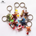 Hot Sale Color Bottle Key Ring Personality Skull Pendant Keychain Alloy Key Bag Accessories Wholesale Random 5cm HE-94