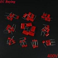 50pcs CBB Metallized Polyester Film Capacitors Assortment Kit 0 022UF 3 3UF 400V 10ValuesX5PCS CBB22 Polypropylene