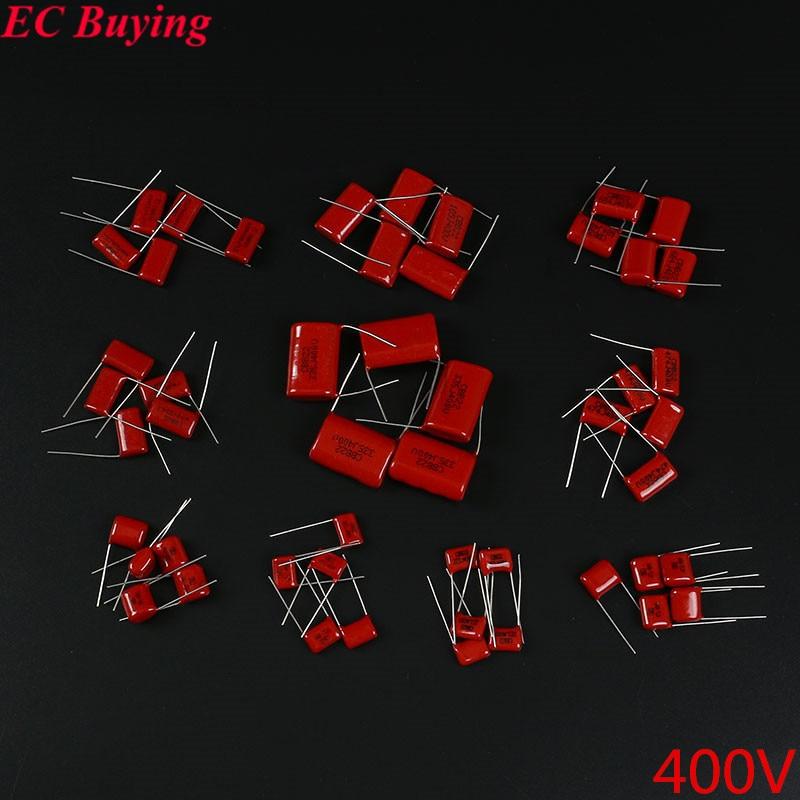 50 pz CBB Metallizzato Film di Poliestere Assortimento Kit 0.022 UF-3.3 UF 400 V 10ValuesX5PCS Polipropilene Condensatore CBB2250 pz CBB Metallizzato Film di Poliestere Assortimento Kit 0.022 UF-3.3 UF 400 V 10ValuesX5PCS Polipropilene Condensatore CBB22