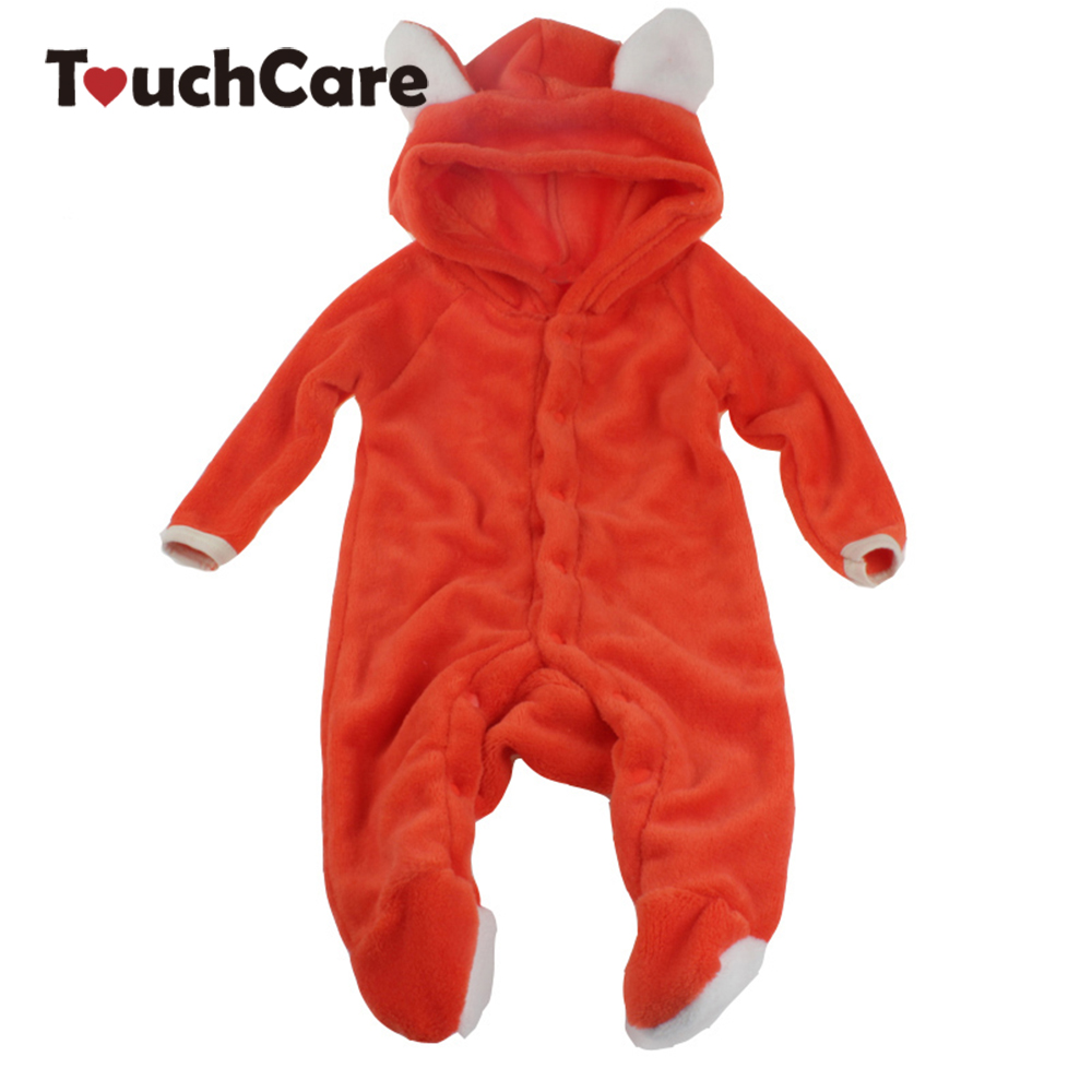 NewBorn Baby Boy Girl Cute Fox Coral Fleece Romper Infant Babies Clothes Meninas Jumpsuit Snowsuit Animal Overall 2015 autumn winter hot sale coral fleece baby boots baby shoes branded newborn infant shoes for babies soft shoes girl hk492