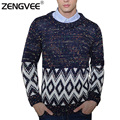 2017 New Mens Sweaters Long Sleeve Knitting Clothing For Young Men O-neck Slim Fit Warm Sweater Top Quality