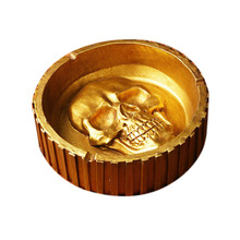 Gadgets For Men Accessories Outdoor Pocket Portable Cigar Skull Ashtray Skulls Ash Tray Cigarettes Smoking Collectible Ashtrays