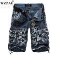 WZZAE 2018 Neue Design Männer Sommer Camouflage Military Cargo-Shorts Bermuda Masculina Jeans Männlichen Mode Lässige Baggy Denim Shorts