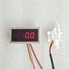 Us202m e USN HS06PA 4 pulso contador de taxa de fluxo amplificador 14 vezes display portátil e fonte de alimentação plug and play 0.3 4.5l/min