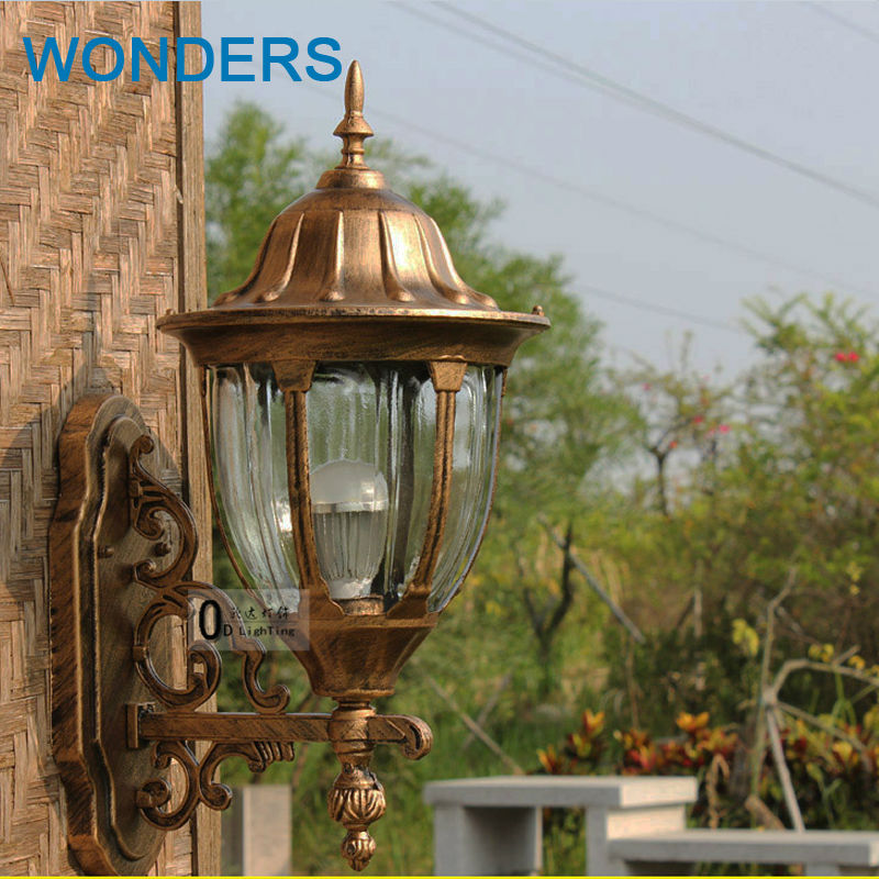 Europe retro wall lights sconces outdoor waterproof porch wall lamp garden light on the wall landscape balcony lamp ...