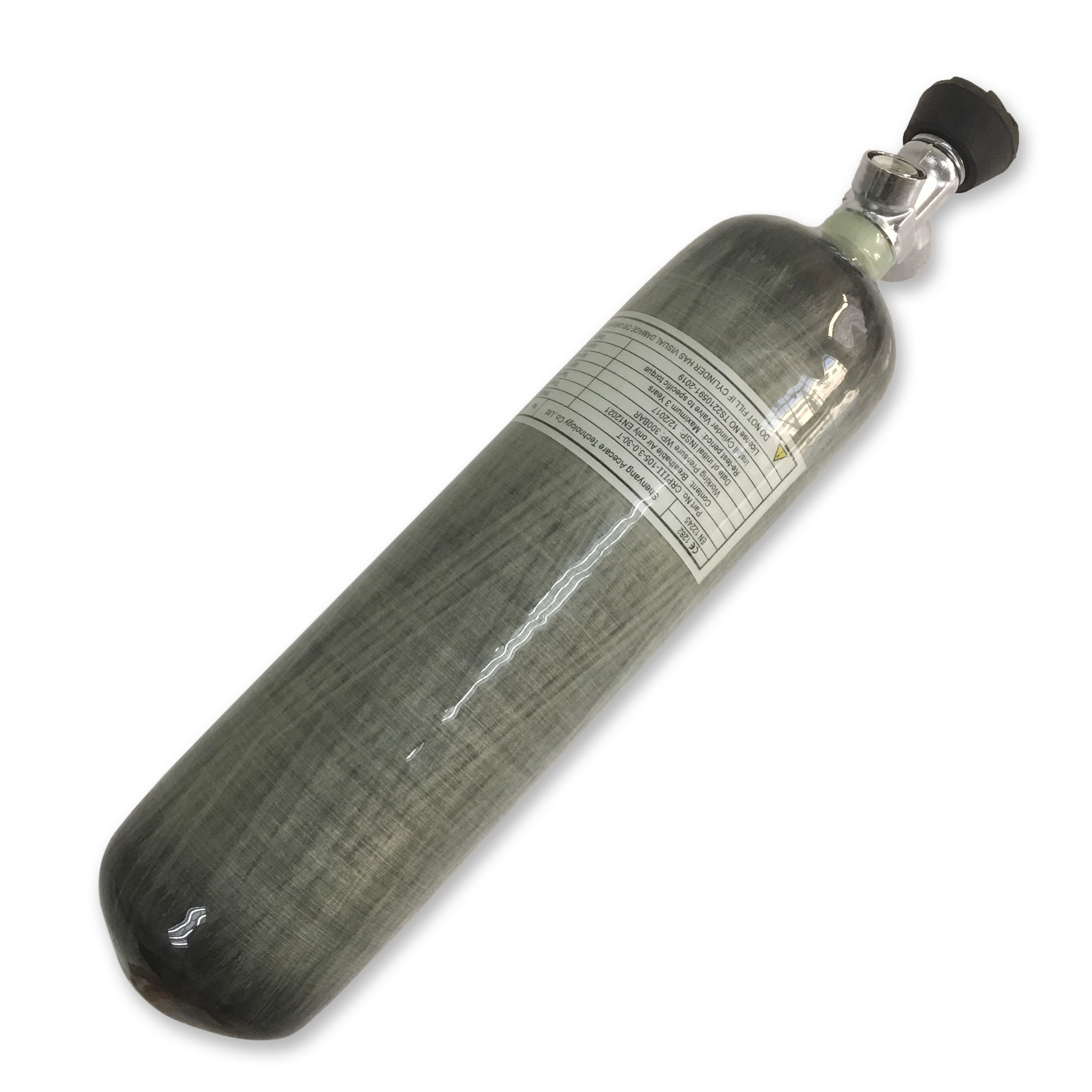 AC10331 Airsoft Cylinder Paintball Tank Hpa Co2 Cylinder Pcp 3L 300bar M18*1.5 Thread CE Paintball Equipment With Gauge Valve