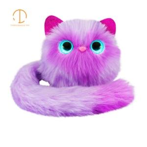 Image 4 - 7 tipos Led plüschtier de sonido de gato hablando flash muñecas de peluche Animal gato Regalo de Cumpleaños luminosa gato las niñas