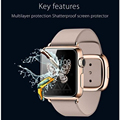 -À prova de explosão 9 h dureza para 38/42mm apple watch vidro temperado screen protector film à prova de explosão-função frete grátis