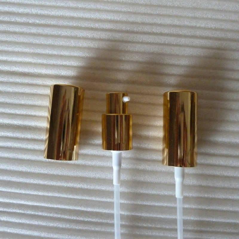 35 ml kahverengi/amber kare Cam losyon Şişesi alüminyum parlak altın pompa. losyon ve uçucu yağ. Losyon krem ambalaj