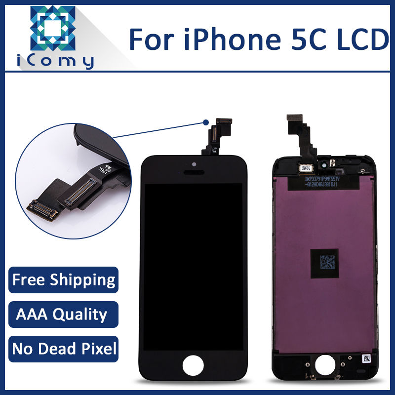 10PCS Grade AAA Quality Mobile Phone LCD Display For Apple iPhone 5c LCD Touch Screen Digitizer