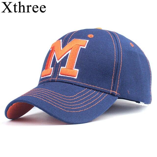 5f8edf6981e Xthree spring baseball cap for women snapback hats man casquette casual cap  bone cotton hat for men women apparel