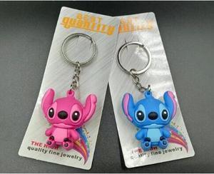 Новинка 50 шт синий розовый стежок микс 3D ПВХ брелок мультфильм сумка для ключей Подвеска для лучшего подарка Бесплатная доставка