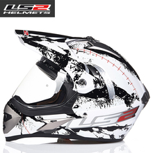 OFF ROAD CASCO Ls2 off-road moto casco doble lente fuera de la carretera casco de oscurecimiento casco de la moto 433