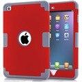 For Coque iPad Mini Cover Case 2016 Colorful Hybrid Armor Plastic Rubber Cases for iPad Mini 3 2 1 Carcasas 11 Colors