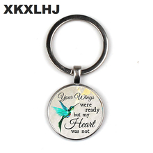 NEW Commemorating The Charm Keychain, Your Wings Are Ready But My Heart Is Not, Losing Loved Ones In Memory, Sadness or Loss kathy ireland loved ones tonal