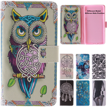 Cute Cartoon Tiger Owl Girl Leather Wallet Flip Fundas Case For Samsung Galaxy A3 A5 A7 2016 A9 A310 A510 A710 A900 Cover Capa