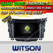 WITSON Android 5.1 CAR DVD GPS for HYUNDAI i30 car audio player Capacitive touch screen Cortex A9 Qual-core1.6G 16GB Rom