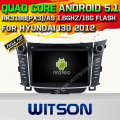 Witson android 5.1 car dvd gps para hyundai i30 car audio player qual-core1.6g tela de toque capacitivo cortex a9 16 gb rom