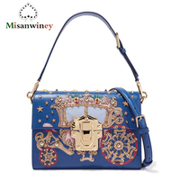 Goddess! Super Show Luxury Princess Pumpkin Handbags Italy Brand Designer Diamond Genuine Leather Women Shoulder Bag Evening Bag