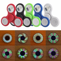 Wallfire Fidget Spinner LED Light ABS EDC Stress Wheel Hand Spinner For Kids Autism ADHD Anxiety Stress Relief Focus Toys