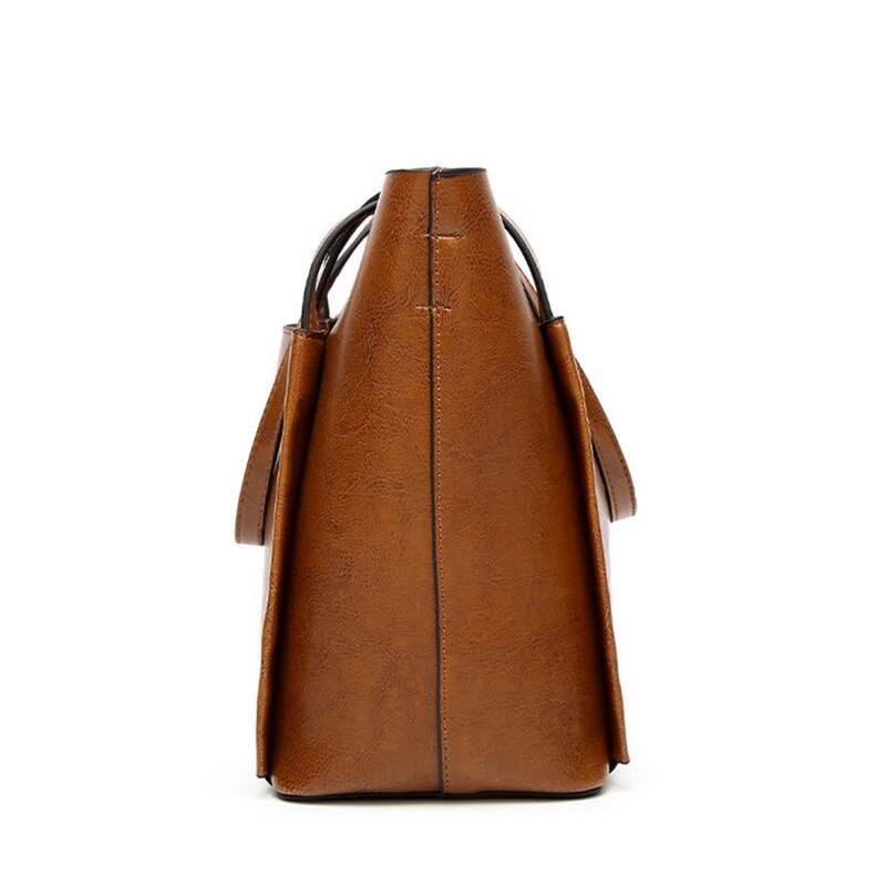 BARHEE Mujeres Tote Bag Diseño de Marca de Moda Europea Vintage - Bolsos - foto 4