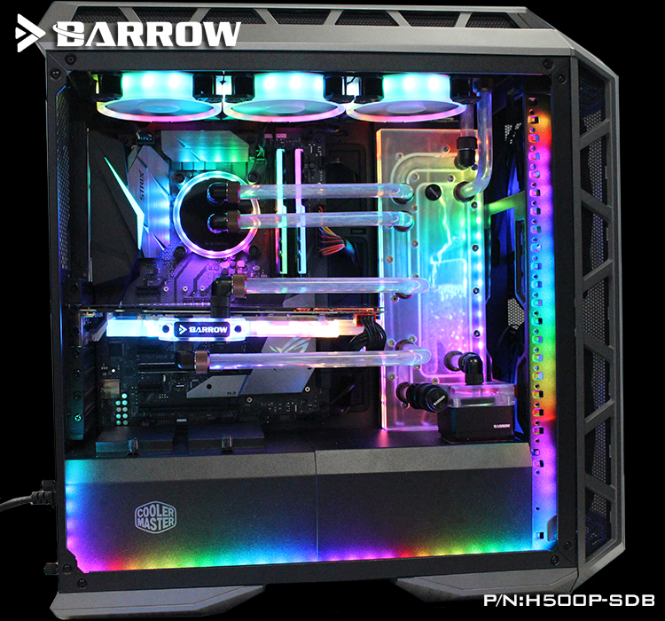 Barrow H500P-SDB, Waterway Boards For CoolerMaster H500P Case, For Intel CPU Water Block & Single GPU Building цена и фото
