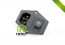 Free shipping Three power socket with insurance The aucharm hifi copper plated copper tones have a fever AC power socket10A250V