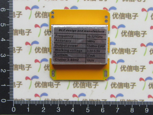 Microwave Doppler X band radar detector sensor module 10.525GHz high sensitivity uvm 30a uv sensor detector module black