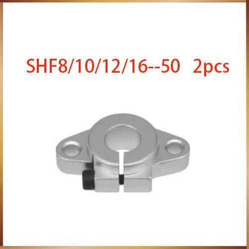 Shf20 sfh8 shf10 2 قطع رمح خطي السكك الحديدية SHF12 shf16 رمح shf20 الألومنيوم رود السكك الحديدية دعم cnc الموجه xyz axiz لل طابعة 3d