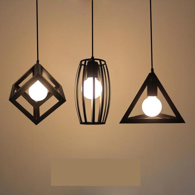 vintage lighting fixtures. Retro Bar Loft Iron Industrial Lighting Fixtures Bedroom Dining Room Black Vintage Lamp Pendant Light