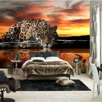 Custom Photo Wallpaper High Quality Leopard Wall Covering Living Room Sofa Bedroom TV Backdrop Wallpaper Mural