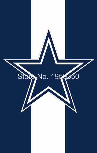 Dallas Cowboys Logo Vertail Flying Flag Banner Flag 3ft X 5ft 100d