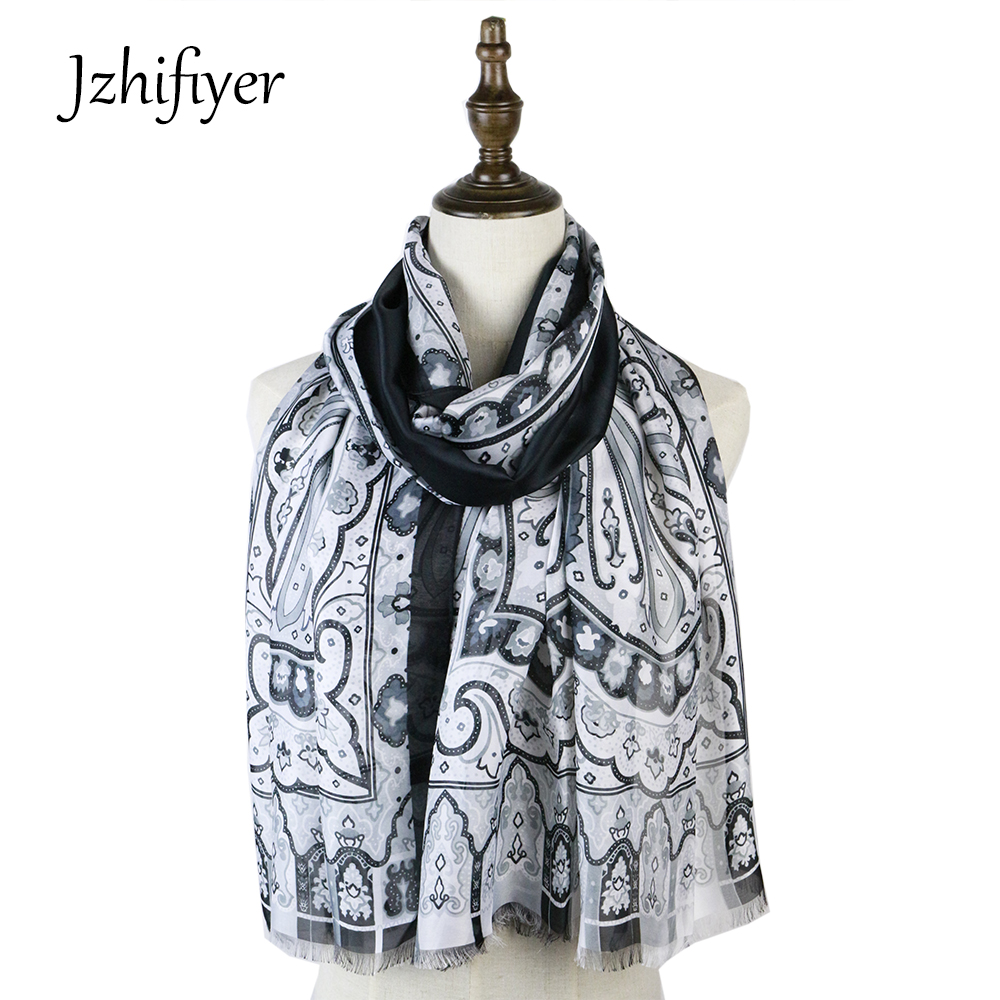 silk scarf mujer lady paisley smooth soft shawl bandana shawls hijab boutique scarf sarong stole luxury brand neckerchief head in Women 39 s Scarves from Apparel Accessories