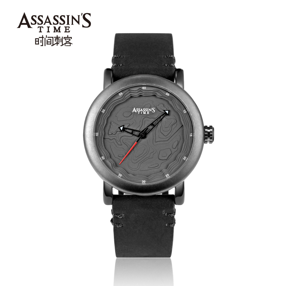 Assassin's Time Leather Band Watch meeste top brändi luksuslik - Meeste käekellad - Foto 5