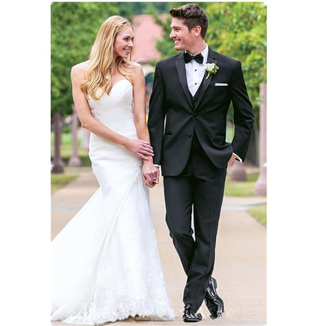 Men Blazer Dress Groom Suits(Jacket+Pants+Vest+Bow Tie) Superior Quality Wedding Suit For Mens Groomsman Wedding Dress Prom Suit