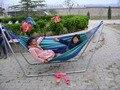 2016 Nova Moda Balançando Acampamento Ao Ar Livre Mobiliário Cadeira de Suspensão de Ar, Tecido de Algodão Hammock portátil