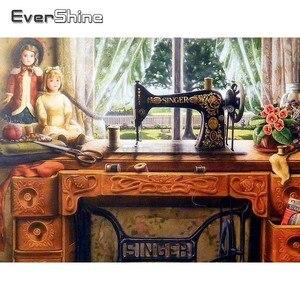 EverShine Алмазная мозаика, полная раскладка, швейная машина, алмазная живопись, полный квадрат, Новое поступление, Алмазная мозаика, настенная ...