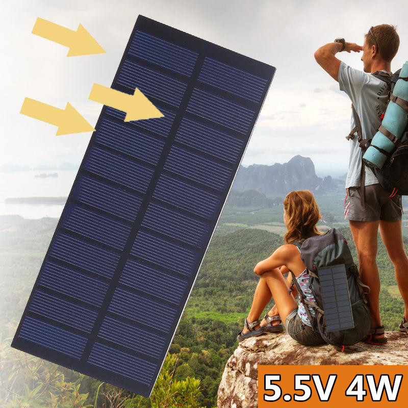 15V 4W Universal Mini Solar panels System DIY For Battery Cell Phone Chargers Portable Solar Cell Outdoors travel Solar Cells