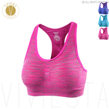 Seamless Patterned Sports Bra – Gym Running Yoga Workout Good Quality Breathable Comfort Sleep Bra Top Sportswear Activewear
